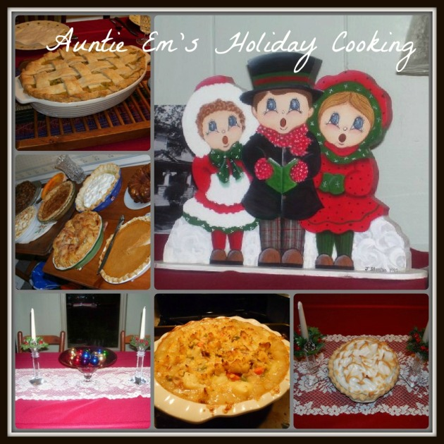 Auntie Em's holiday cooking Collage