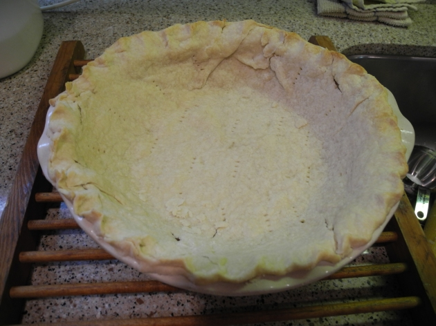 homemade pie crust cooked